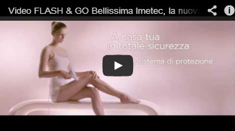video spot tv imetec bellissima flash & GO